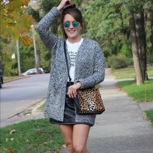 LOFT multicolored marled cardigan